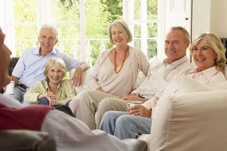 entertaining: Friends Socializing At Home