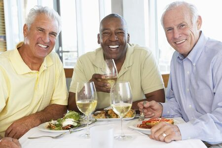 Friends Having Lunch Together At A Restaurant Stock Photo - 4645937