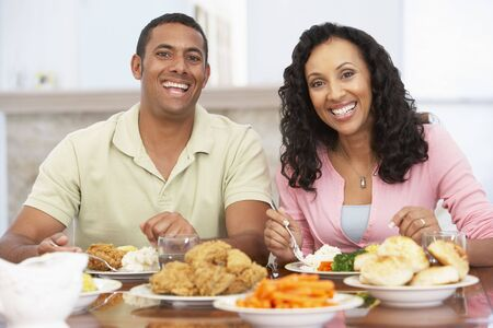 Couple Having Lunch Together At Home photo