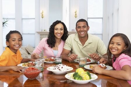 Family Having A Meal Together At Home Stock Photo - 4645962