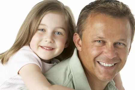 Father And Daughter Smiling photo