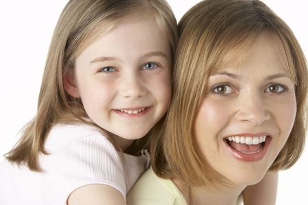 Mother And Daughter Smiling photo