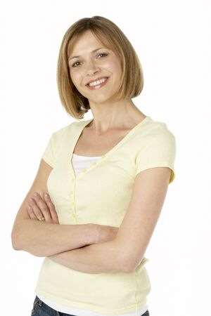 Middle Aged Woman Smiling Stock Photo - 4646008
