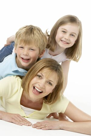 Mother And Children Happy Together photo