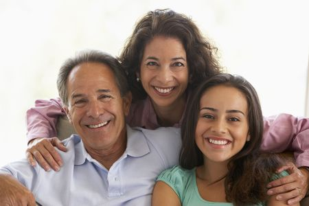 hispanic women: Family Together At Home