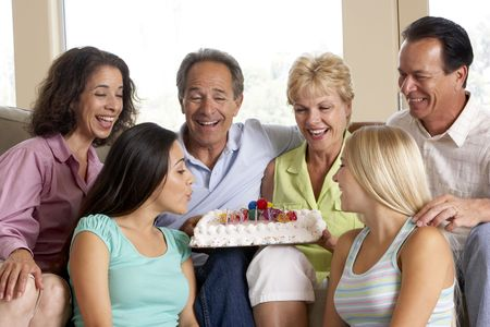 Two Families Celebrating A Birthday Together photo