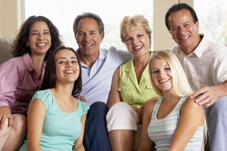 Two Families Together Stock Photo - 4646502