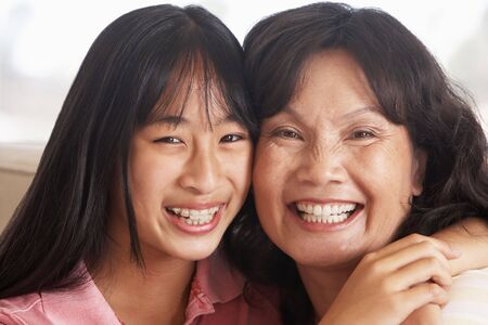 Woman With Her Teenage Daughter photo