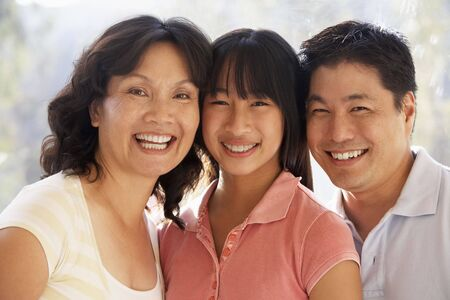 head home: Family Together Stock Photo