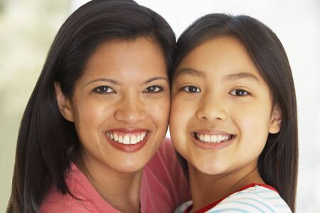 Woman With Her Young Daughter photo