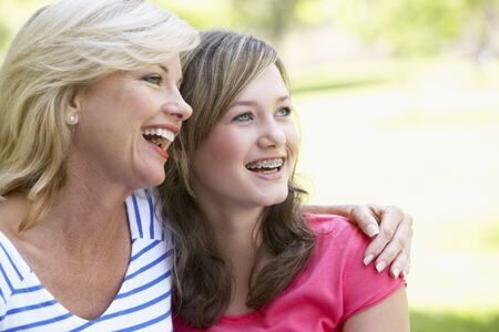 Woman And Her Teenage Daughter photo