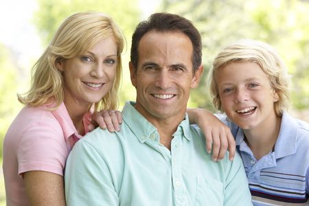teen aged: Couple And Their Son