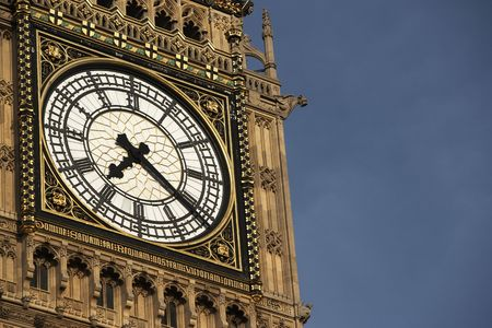 Intricate Clock Face Of Big Ben, London, England photo