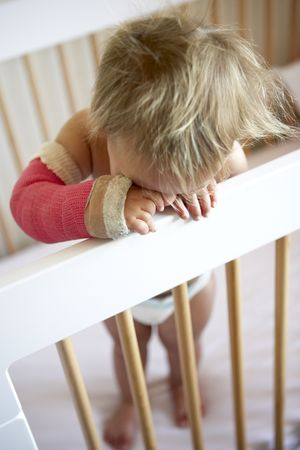 plaster cast: Crying Toddler With Arm In Cast