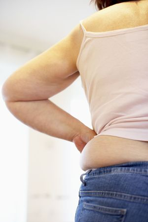 Detail Of Overweight Woman Stock Photo - 5041856