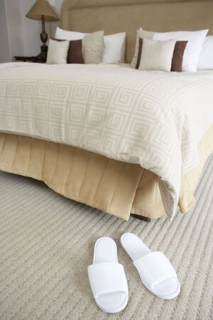 luxury hotel room: Empty Hotel Room In Spa
