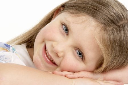 Portrait Of Smiling Young Girl photo