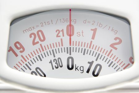 Close Up Of Bathroom Scales Dial Stock Photo - 5296940