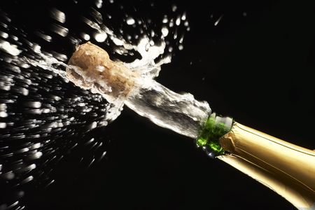 popping the cork: Popping Champagne Cork