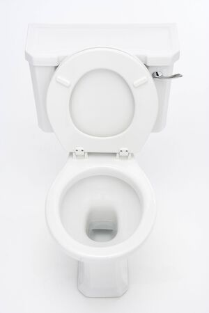 loo: Overhead View Of Toilet
