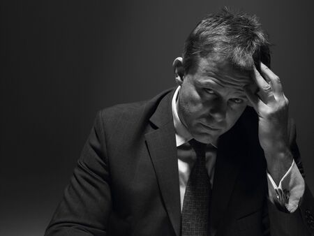Portrait Of Stressed Businessman photo