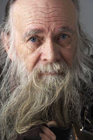 long beard: Senior Man With Long Beard