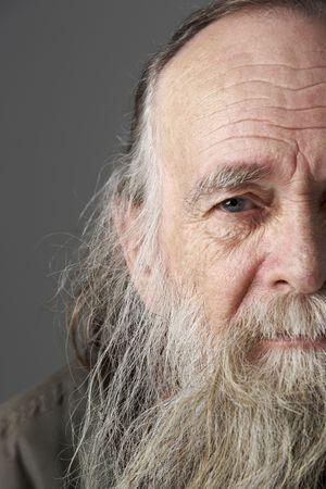 Senior Man With Long Beard photo