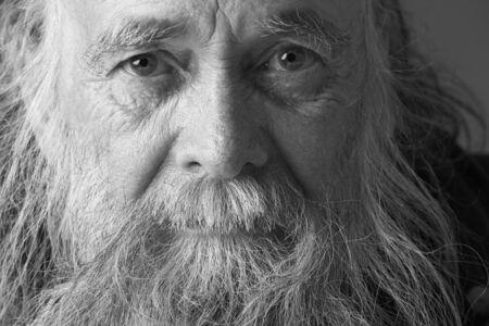 old black man: Senior Man With Long Beard