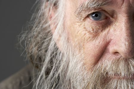 vagabundos: Hombre con altos largo Beard