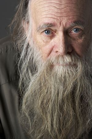 poor man: Senior Man With Long Beard