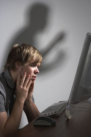 cyber bullying: Cyber Bullying Concept