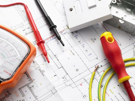 electrical wires: Electrical Equipment On House Plans