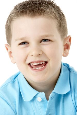 Portrait Of Smiling Young Boy Stock Photo - 5296951