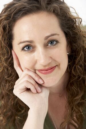 Portrait Of Smiling Woman Stock fotó