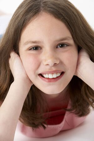 beautiful preteen girl: Portrait Of Smiling Young Girl