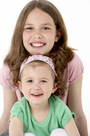Portrait Of Two Young Girls photo