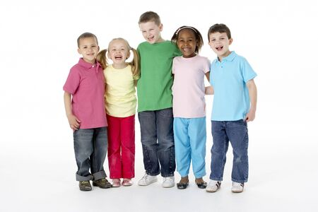 Group Of Young Children In Studio Stock Photo - 5296959