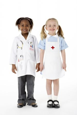 professions: Group Of Young Children In Studio Stock Photo