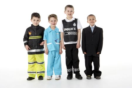 dressing up: Young Children Dressing Up As Professions