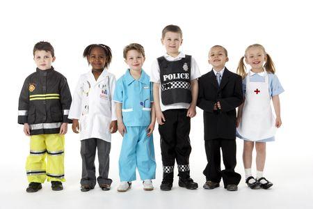 profesiones: Young Children vestirse de Profesiones