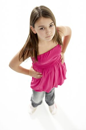 defiant: Full Length Portrait Of Young Girl