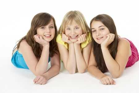 13 year old: Group Of Three Young Girls In Studio