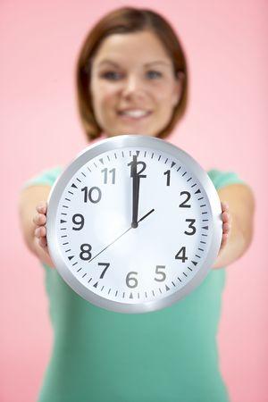 o�??clock: La tasadora Reloj Mostrando 12 O'Clock