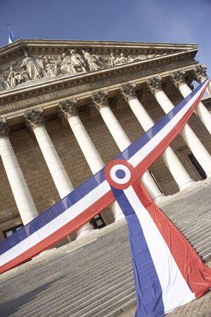 tricolour: National Assembly,Paris,France