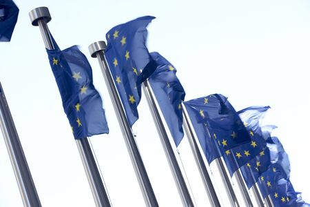 ec: Flags Flying Outside European Commission Building