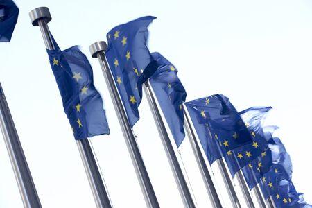 """Flags Flying Poza Komisji Europejskiej """"Budowanie"""