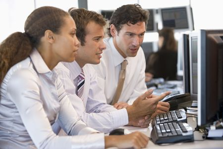 stock trader: Stock Trader Team At Work