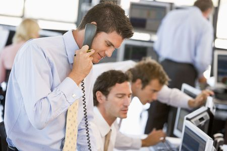 stock trader: Stock Trader On The Phone