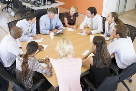 traders: Stock Traders In A Meeting