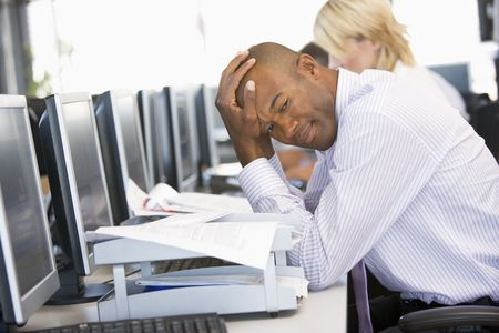 stock trader: Stock Trader Looking Frustrated